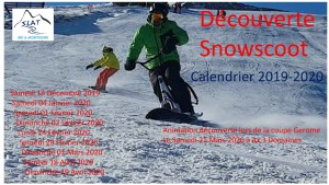 Calendrier Snowscoot 2019-2020